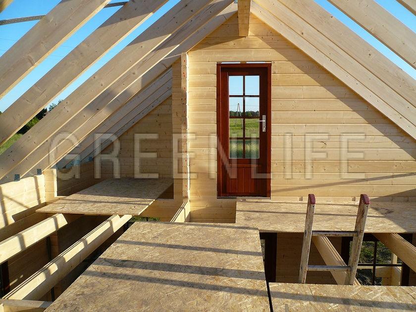Chalet bois anna 60 maison bois greenlife for Construction maison etage