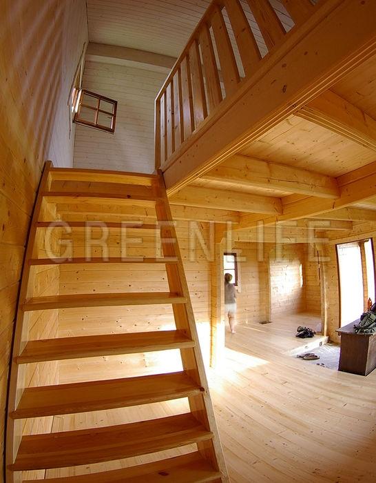 chalet bois anna 60 maison bois greenlife. Black Bedroom Furniture Sets. Home Design Ideas