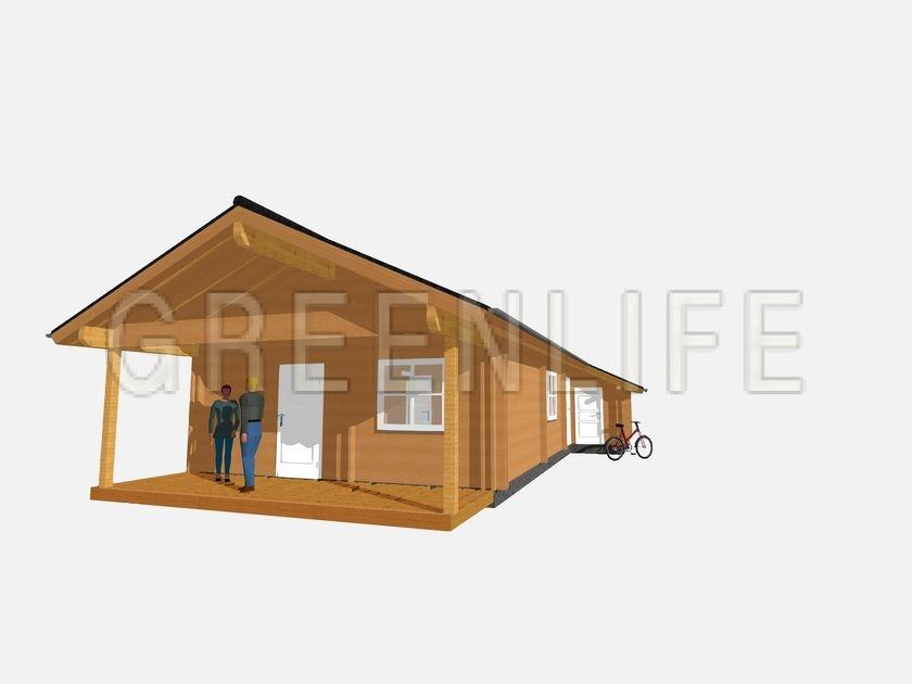 Maison bois CARLA 100  Maison Bois GreenLife