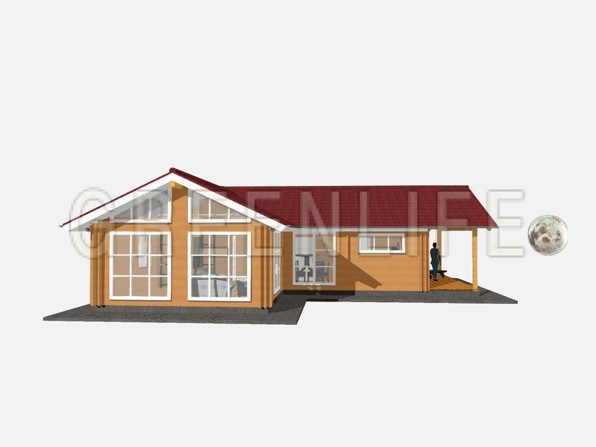 Maison bois carla 100 maison bois greenlife for Exterieur maison 3d