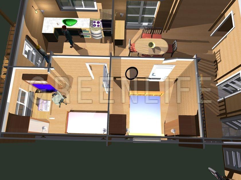 Maison bois carla 100 maison bois greenlife - Interieur maison en bois ...