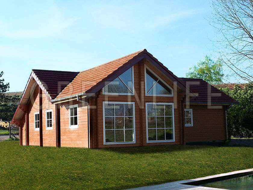 Maison bois carla 120 maison bois greenlife for Maison en bois moderne