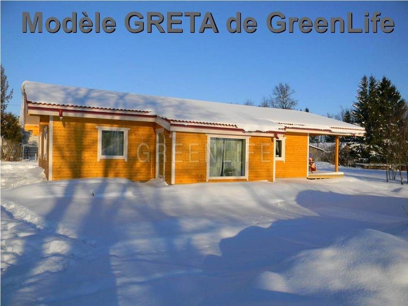 Maison bois scandinave excellent jardin nordique mer du for Maison scandinave bois