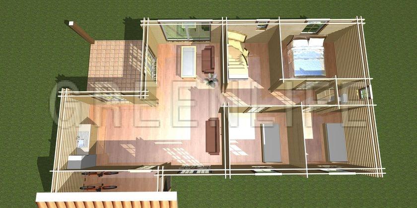 Maison bois louisa 114 tage maison bois greenlife for Model jardin villa