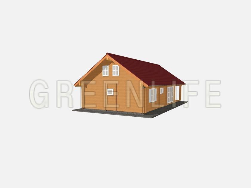 Maison bois LOUISA 114 + étage  Maison Bois GreenLife