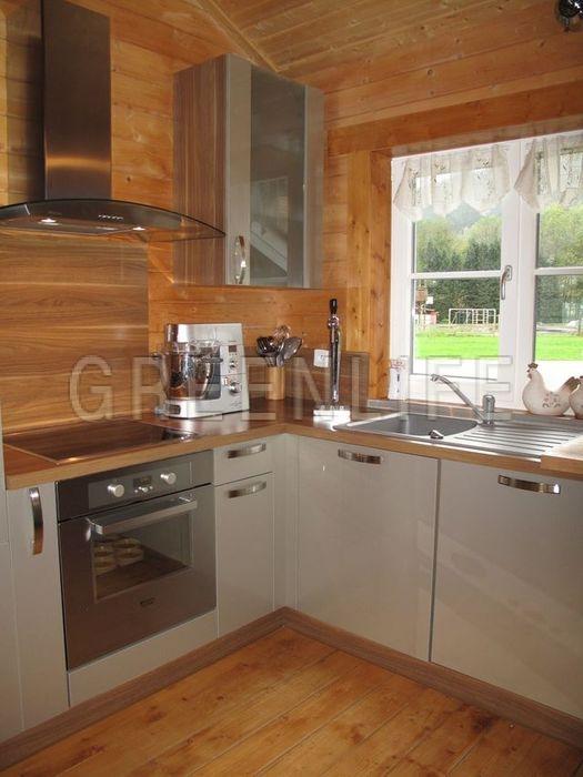 Maison bois louisa 140 maison bois greenlife - Cuisine maison bois ...