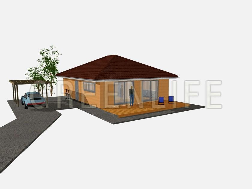 kit maison prix du0027une maison en bois en kit de 4 chambres avec mezzanine get free high. Black Bedroom Furniture Sets. Home Design Ideas