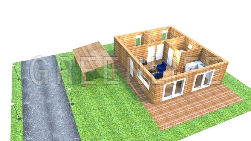 Maison ossature bois marea maison bois greenlife for Prix maison en bois en kit cle en main