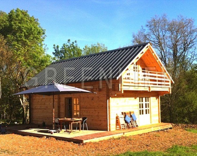 chalet bois mareva 96 maison bois greenlife. Black Bedroom Furniture Sets. Home Design Ideas