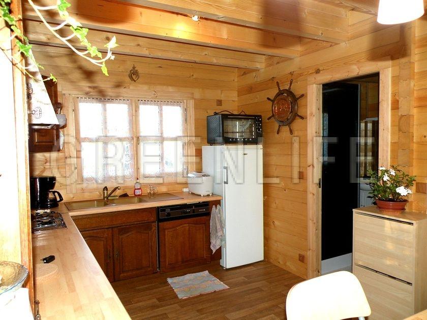 Chalet bois mareva 96 maison bois greenlife for Chalet en bois habitable