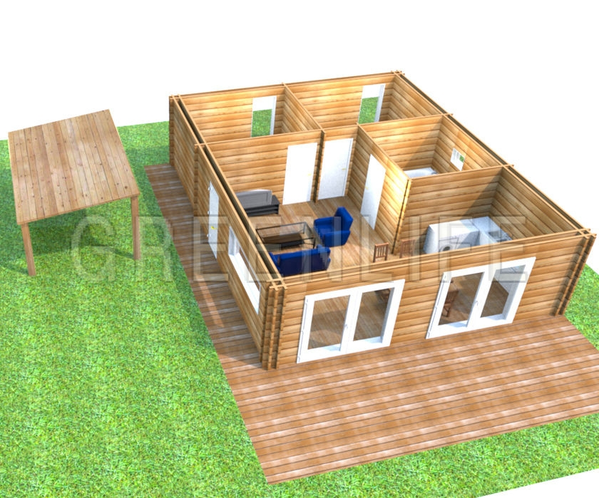 maison bois moorea 73 maison bois greenlife. Black Bedroom Furniture Sets. Home Design Ideas