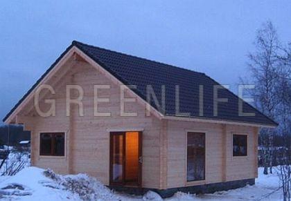 Chalet bois anna 60 maison bois greenlife for Chalet moderne en kit