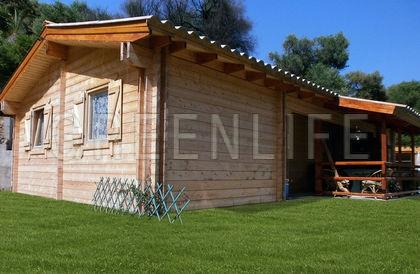 chalet bois vaema 91 maison bois greenlife. Black Bedroom Furniture Sets. Home Design Ideas