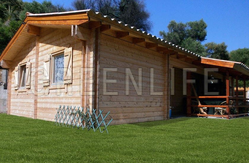 Chalet bois tao 70 maison bois greenlife for Cout chalet bois