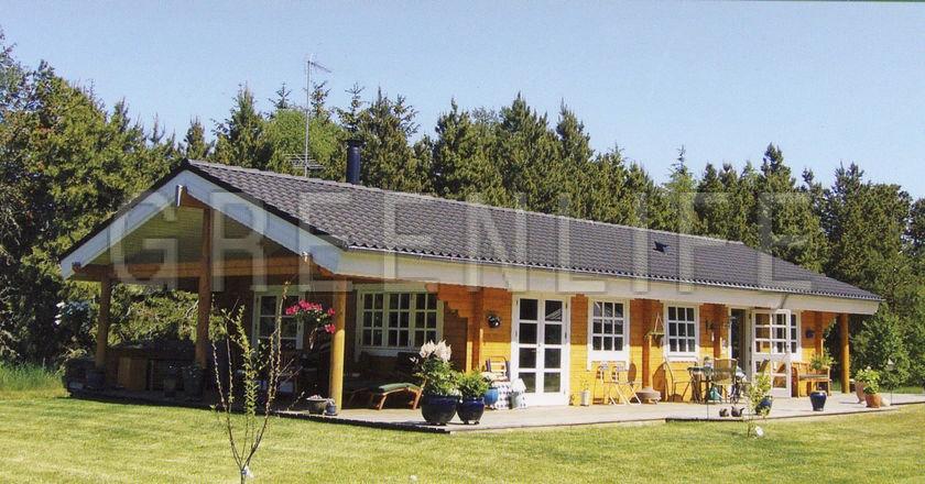 Souvent Maison bois TOSCA 128 - Maison Bois GreenLife JS18