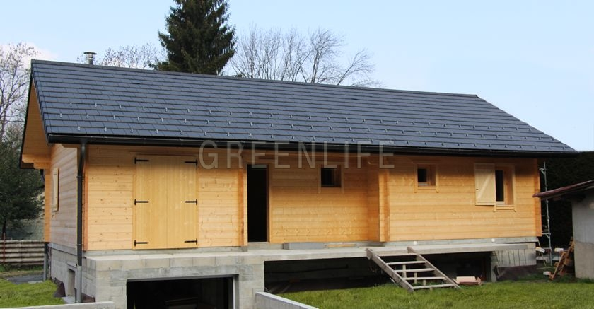 Chalet bois vaema 91 maison bois greenlife for Maisons scandinaves en bois