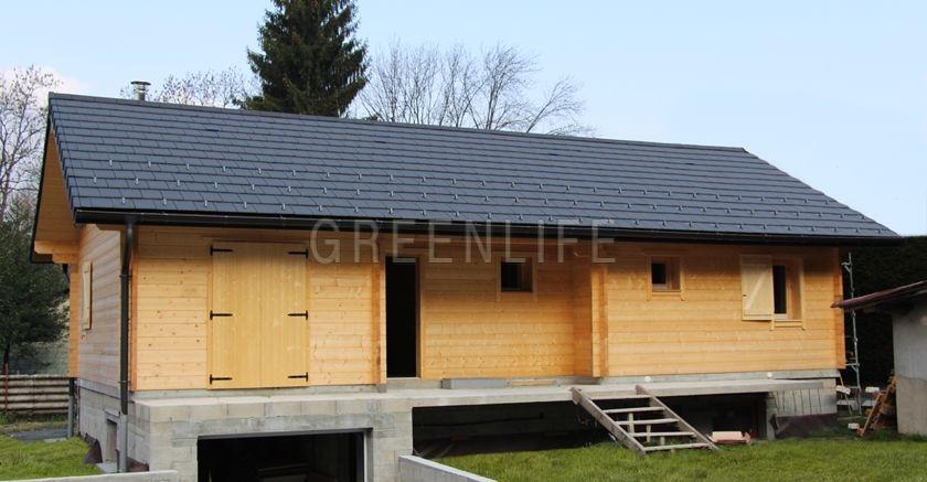 Chalet bois vaema 91 maison bois greenlife for Maison en bois scandinave
