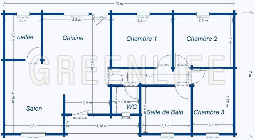 Chalet bois vaema 91 maison bois greenlife Plan chalet bois
