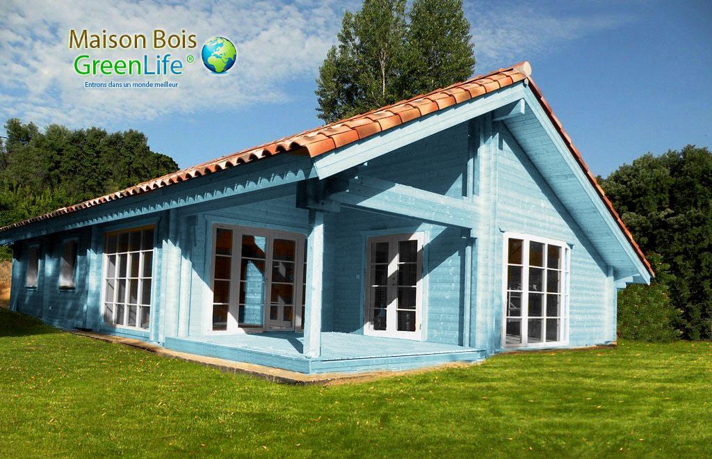 Maison bois en kit peinte maison bois greenlife for Maison en bois vaucluse