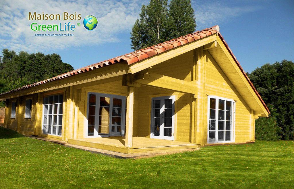 Maison bois en kit peinte maison bois greenlife - Maison en bois peinte ...